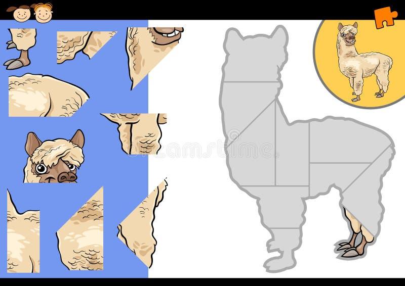 Παιχνίδι γρίφων τορνευτικών πριονιών προβατοκαμήλου κινούμενων σχεδίων ελεύθερη απεικόνιση δικαιώματος