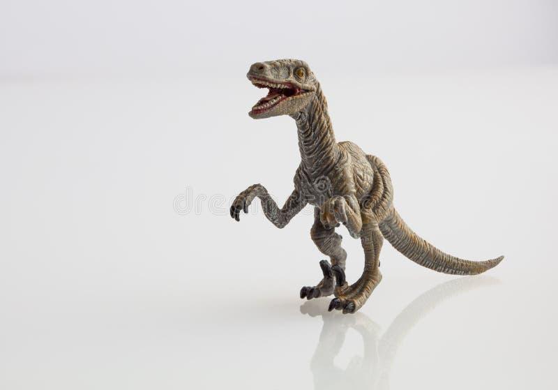 Παιχνίδι δεινοσαύρων στο λευκό στοκ εικόνες με δικαίωμα ελεύθερης χρήσης