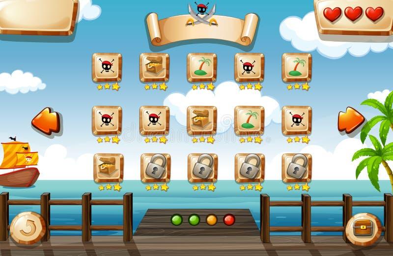 Παιχνίδι πειρατών ελεύθερη απεικόνιση δικαιώματος