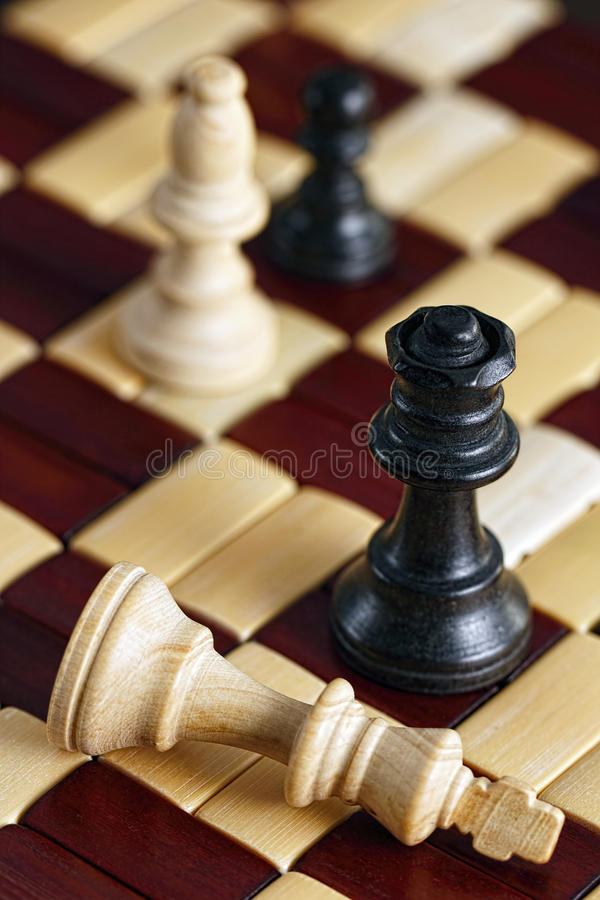 Παιχνίδι σκακιού ματ στοκ φωτογραφίες
