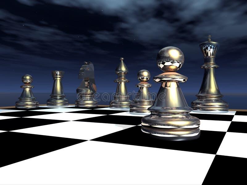 Παιχνίδι σκακιού απεικόνιση αποθεμάτων