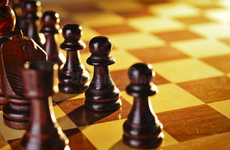 Παιχνίδι του σκακιού στοκ εικόνα