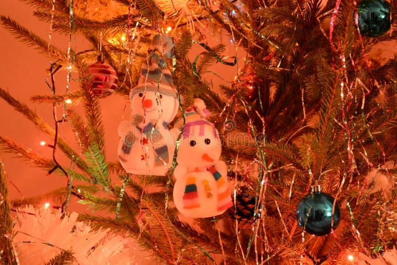 Παιχνίδι χιονανθρώπων, διακόσμηση Χριστουγέννων! στοκ εικόνα
