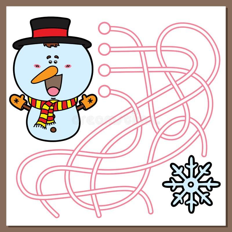 Παιχνίδι χιονανθρώπων διανυσματική απεικόνιση