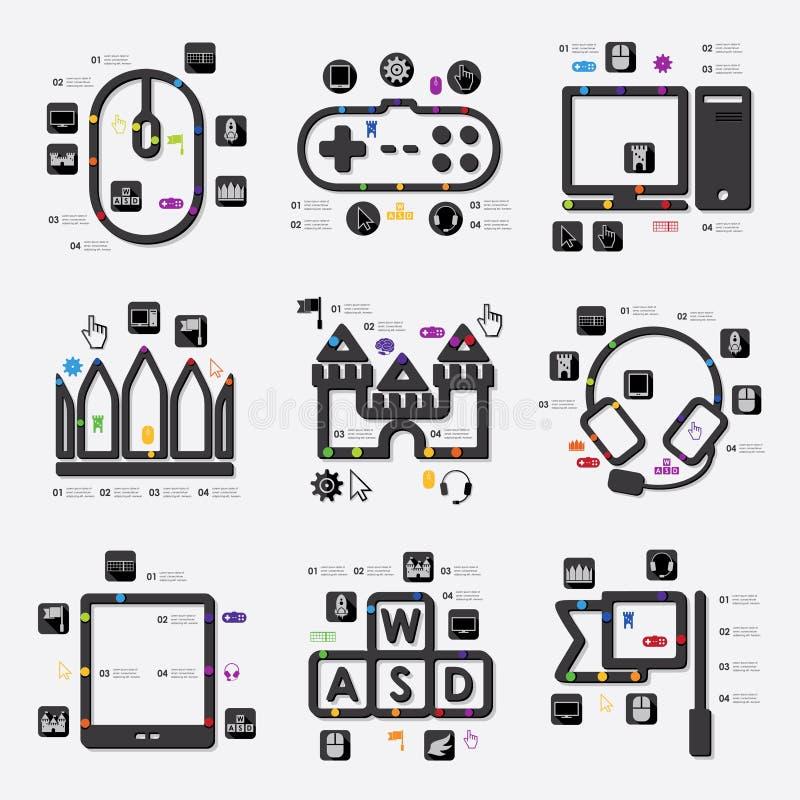 Παιχνίδι infographic απεικόνιση αποθεμάτων