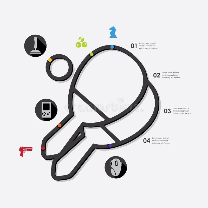 Παιχνίδι infographic διανυσματική απεικόνιση