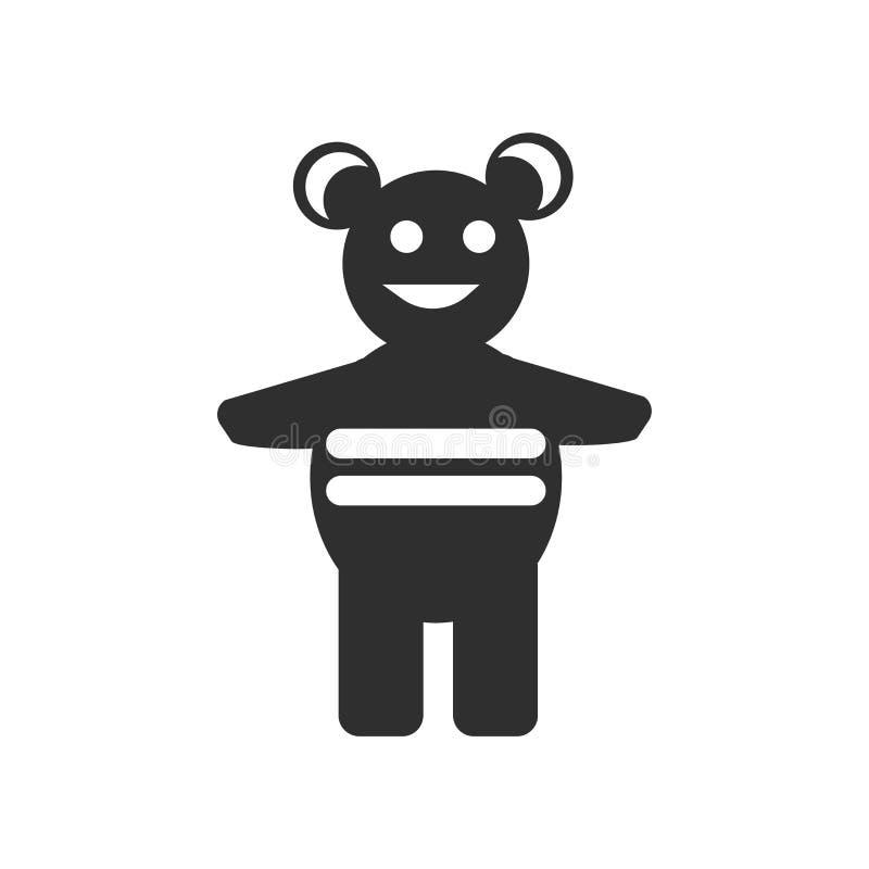 Παιχνιδιών σημάδι και σύμβολο εικονιδίων διανυσματικό που απομονώνονται στο άσπρο υπόβαθρο, έννοια λογότυπων παιχνιδιών διανυσματική απεικόνιση