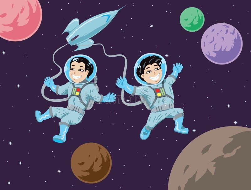 Παιδάκια στο διάστημα απεικόνιση αποθεμάτων