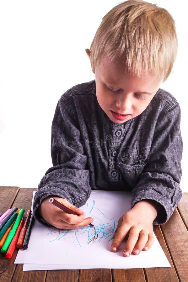 Παιδί και σχέδιο στοκ εικόνες