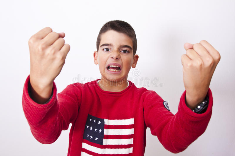 Παιδί με μια έκφραση του θυμού στοκ εικόνα με δικαίωμα ελεύθερης χρήσης