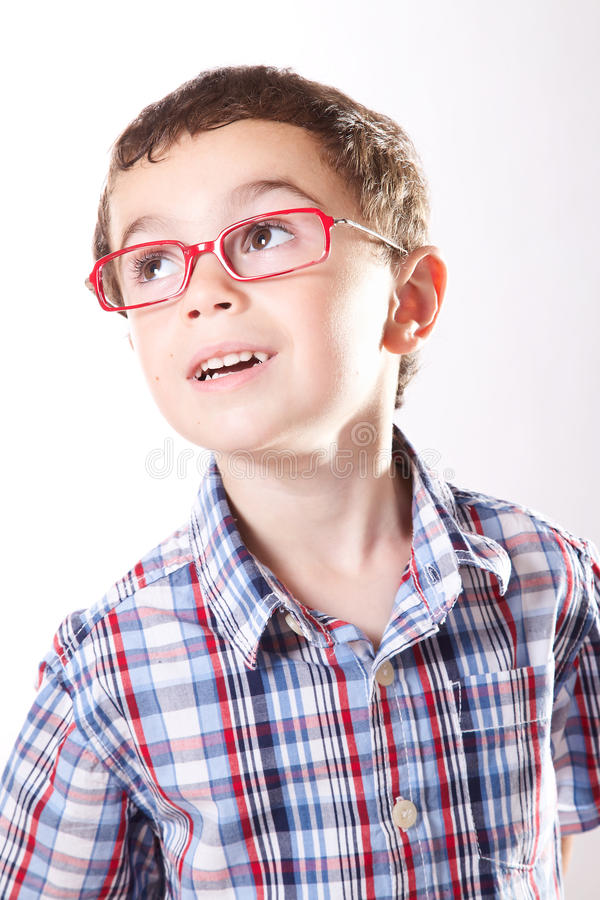 Παιδί με τα γυαλιά στοκ φωτογραφία