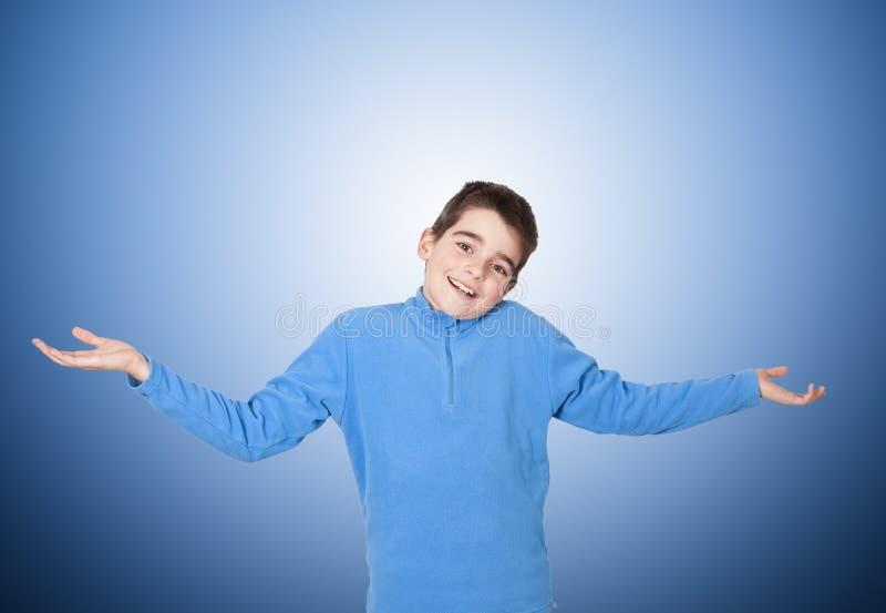 Παιδί με την έκφραση στοκ εικόνες με δικαίωμα ελεύθερης χρήσης