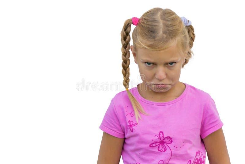 Παιδί με το κακό συναίσθημα στοκ εικόνες