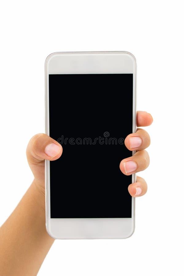 Παιδί με το νέο smartphone στοκ φωτογραφία