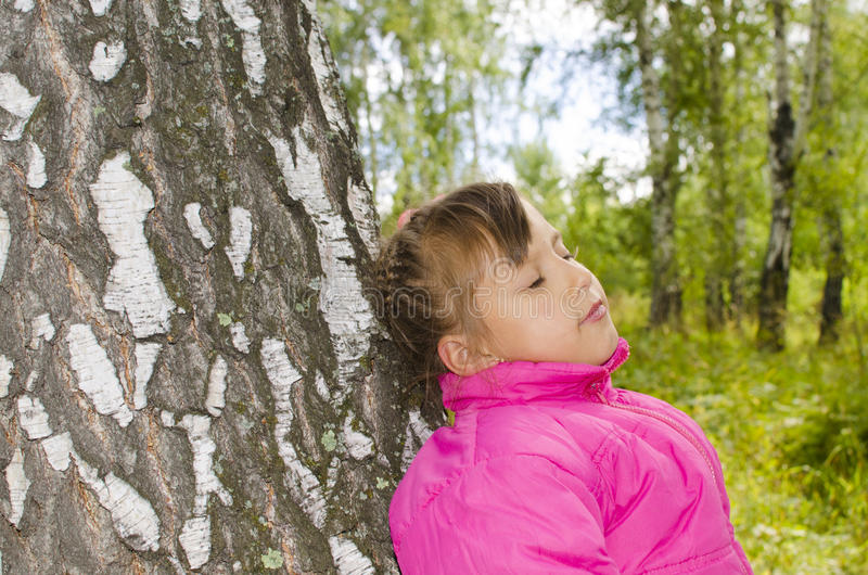 Παιδί στα ξύλα στοκ εικόνες με δικαίωμα ελεύθερης χρήσης