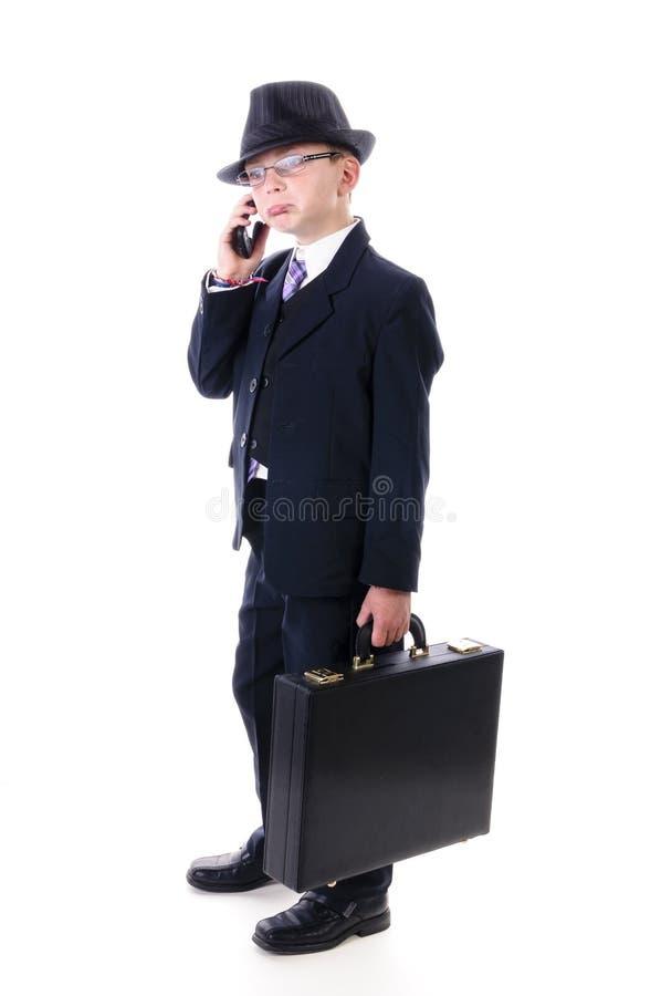 Παιδί στο επιχειρησιακό κοστούμι στοκ φωτογραφία