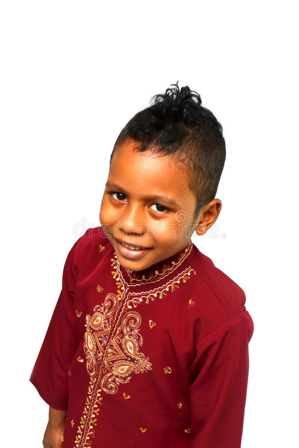 Παιδί στο παραδοσιακό φόρεμα στοκ εικόνα με δικαίωμα ελεύθερης χρήσης