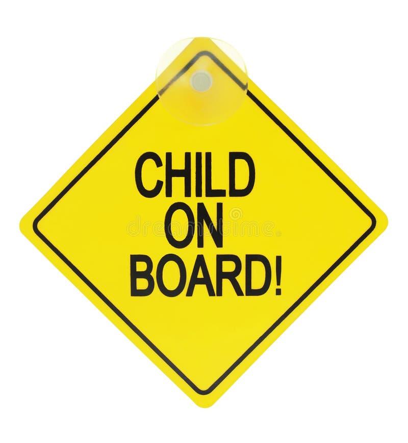 Παιδί στο σημάδι στοκ φωτογραφία