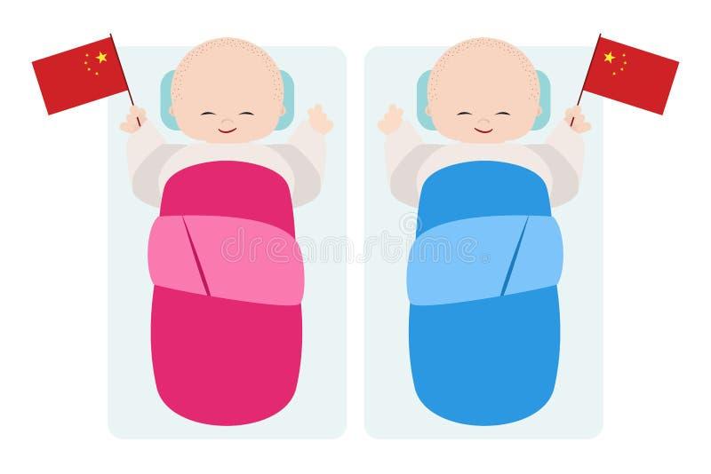 Παιδί της Κίνας γεννημένο ελεύθερη απεικόνιση δικαιώματος