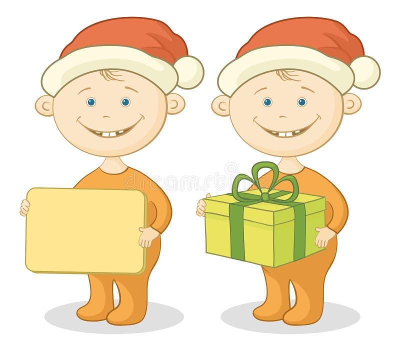 Παιδιά Άγιος Βασίλης ελεύθερη απεικόνιση δικαιώματος