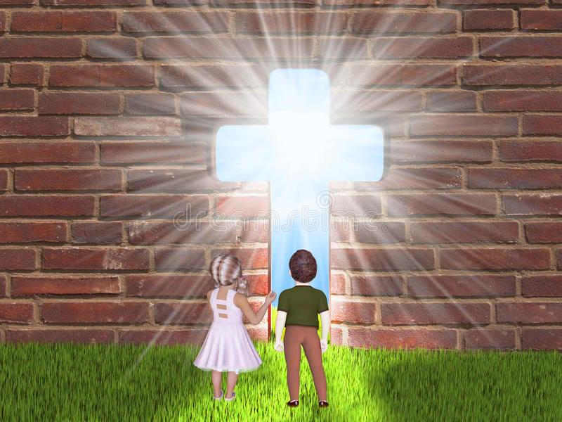 Παιδιά και θρησκεία διανυσματική απεικόνιση