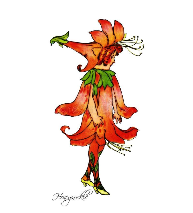 Παιδιά λουλουδιών διανυσματική απεικόνιση
