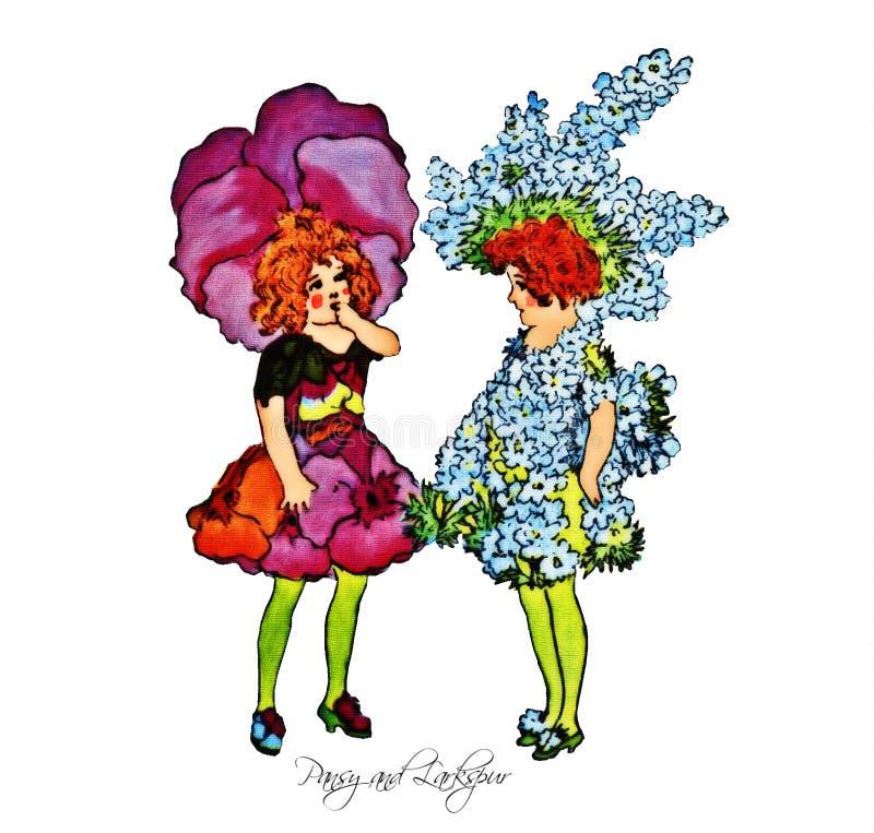 Παιδιά λουλουδιών ελεύθερη απεικόνιση δικαιώματος
