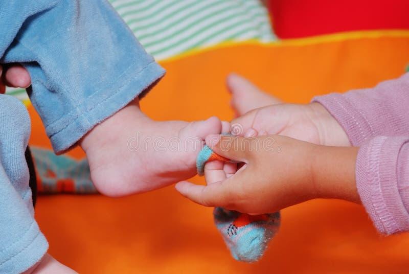 Παιδιά στο βρεφικό σταθμό στοκ φωτογραφία με δικαίωμα ελεύθερης χρήσης