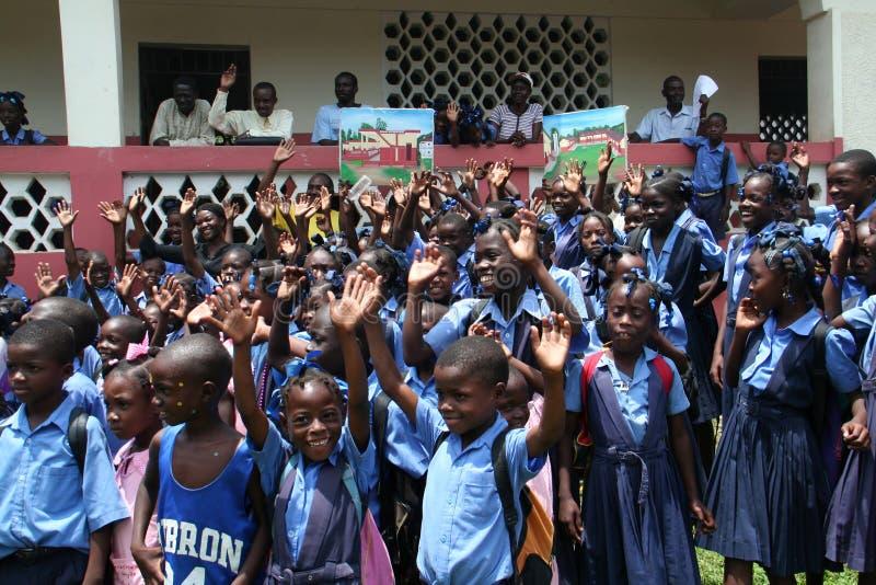 Παιδιά σχολείου στην αγροτική Αϊτή στοκ φωτογραφίες με δικαίωμα ελεύθερης χρήσης