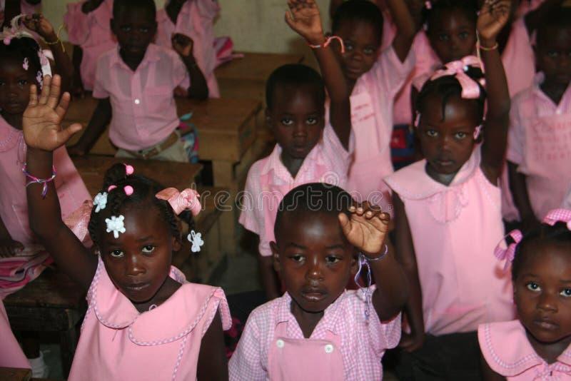 Παιδιά σχολείου στο Petit-Bourg de Port Margot, Αϊτή στοκ εικόνες
