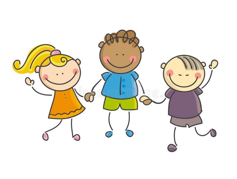 Παιδιά του κόσμου διανυσματική απεικόνιση