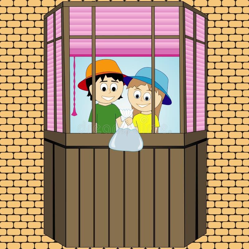 Παιδιά φαρσών στο μπαλκόνι να είστε μπορεί σχεδιαστής κάθε evgeniy διάνυσμα πρωτοτύπων αντικειμένου γραφικής παράστασης ανεξάρτητ στοκ φωτογραφία με δικαίωμα ελεύθερης χρήσης