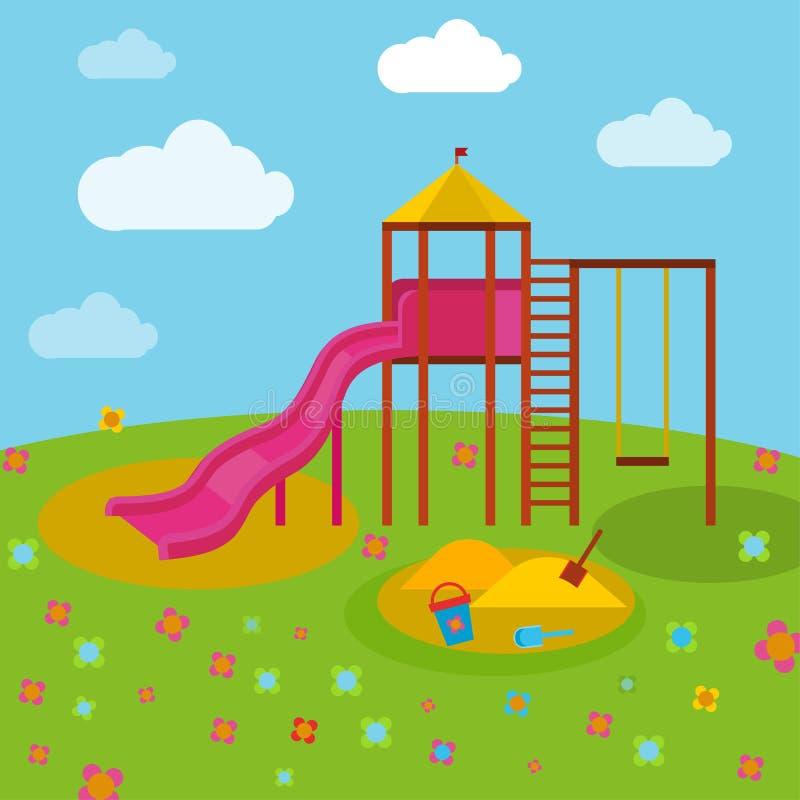 Παιδική χαρά 04 Α παιδιών διανυσματική απεικόνιση
