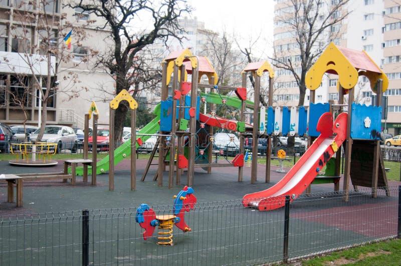 Παιδική χαρά στην πόλη στοκ εικόνα