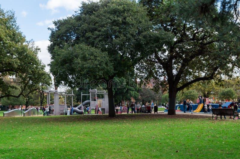Παιδική χαρά στους κήπους του Carlton, Μελβούρνη στοκ φωτογραφία με δικαίωμα ελεύθερης χρήσης