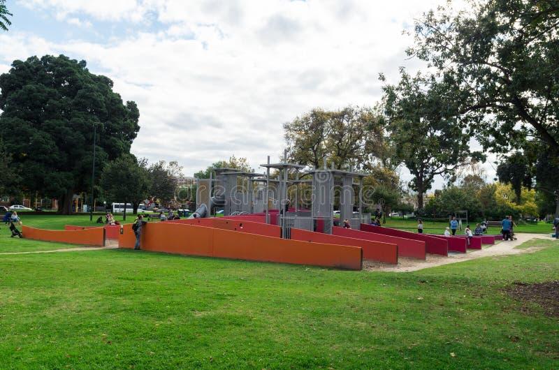 Παιδική χαρά στους κήπους του Carlton, Μελβούρνη στοκ εικόνα με δικαίωμα ελεύθερης χρήσης