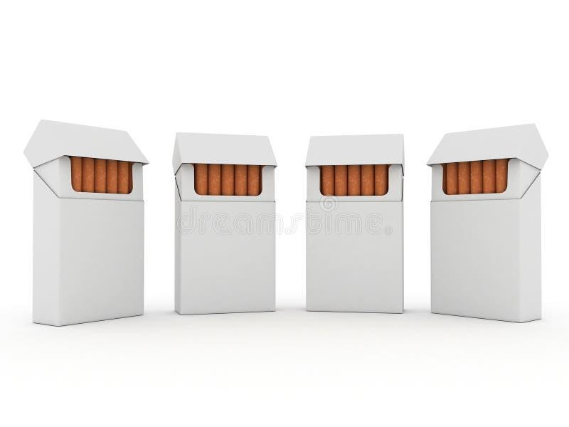 πακέτα τσιγάρων διανυσματική απεικόνιση