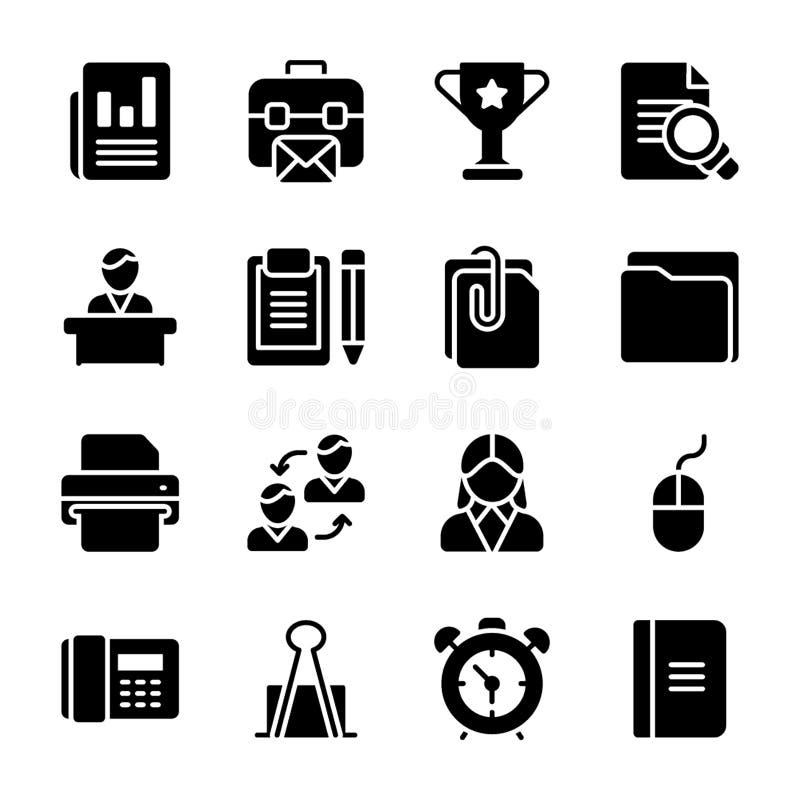 Πακέτο διανυσμάτων Glyph απελευθέρωσης προϊόντων απεικόνιση αποθεμάτων