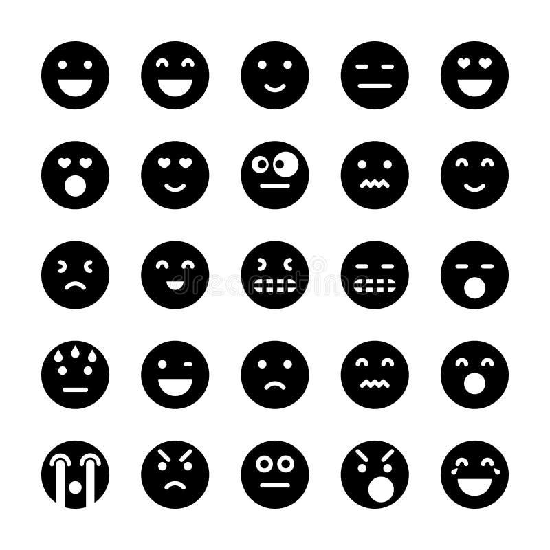Πακέτο εικονιδίων Emoticons απεικόνιση αποθεμάτων