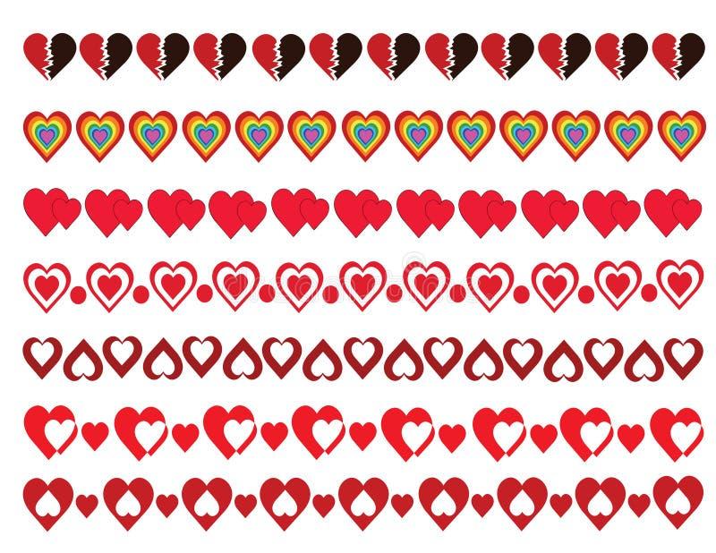 Πακέτο συνόρων καρδιών ελεύθερη απεικόνιση δικαιώματος