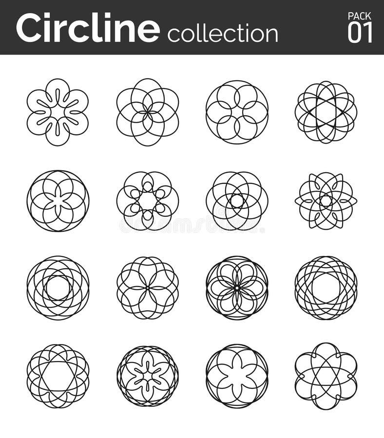 Πακέτο 01 συλλογής Circline απεικόνιση αποθεμάτων