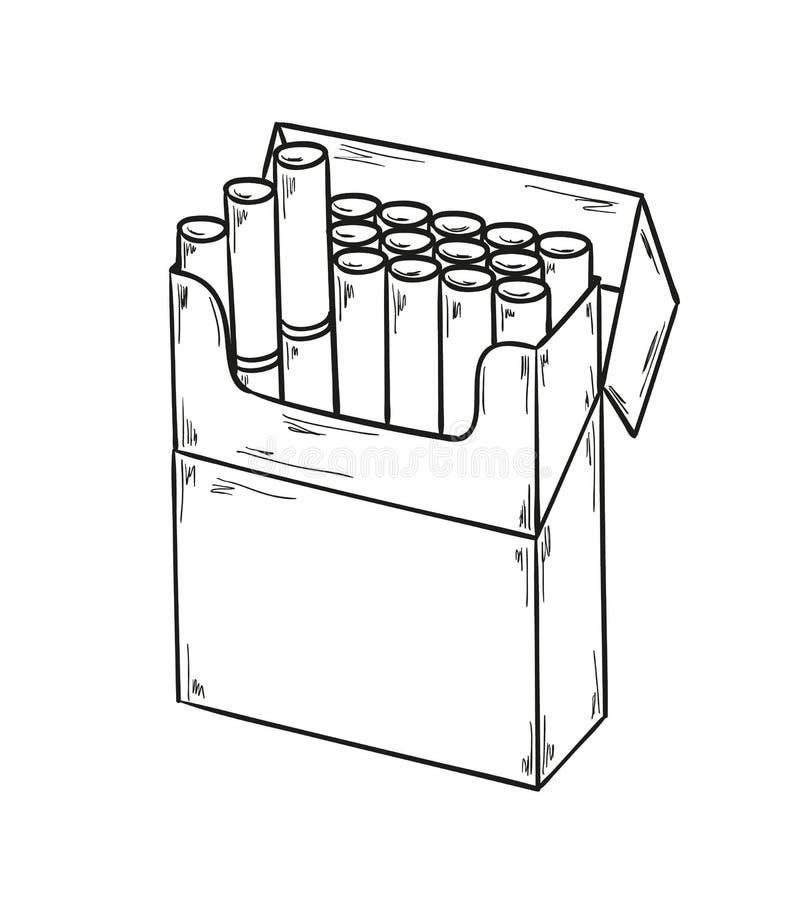 Πακέτο των τσιγάρων ελεύθερη απεικόνιση δικαιώματος