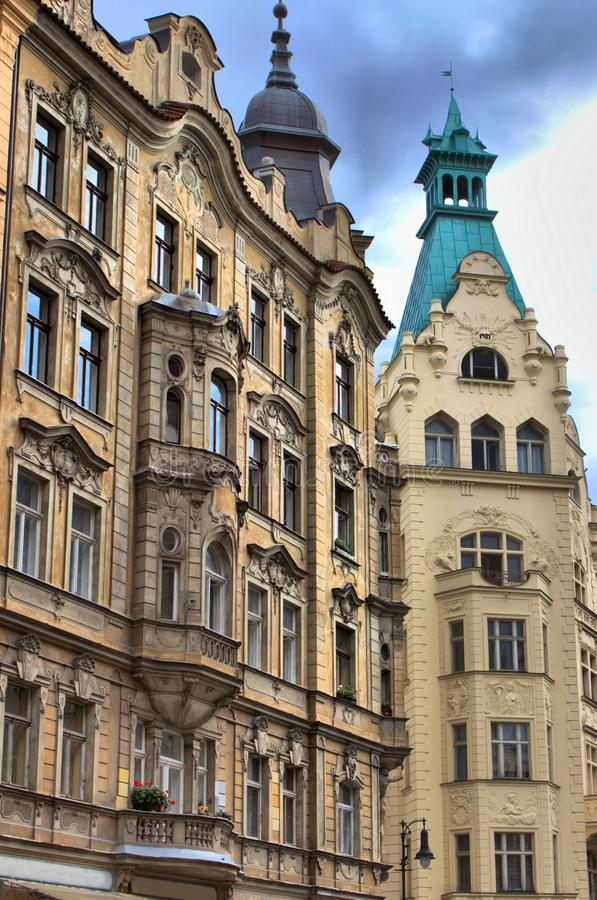Παλάτια ύφους αναγέννησης στην Πράγα στοκ φωτογραφίες