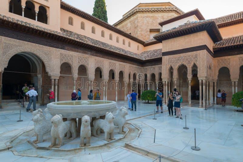 Παλάτια Nasrid δικαστηρίων λιονταριού, Alhambra, Γρανάδα στοκ εικόνες με δικαίωμα ελεύθερης χρήσης