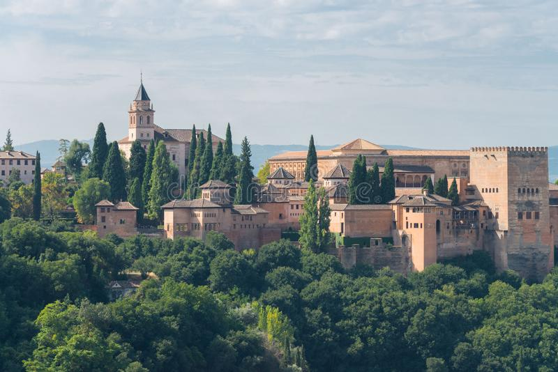 Παλάτια Nasrid και Alcazaba, Alhambra, Γρανάδα στοκ φωτογραφία με δικαίωμα ελεύθερης χρήσης