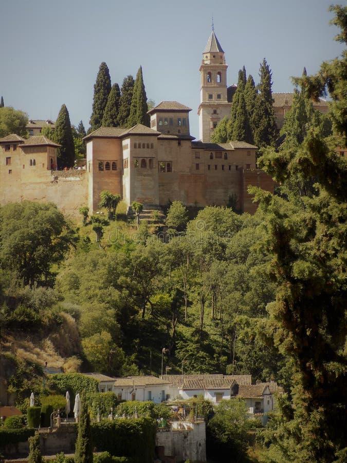Παλάτια Nazaries Γρανάδα-Ανδαλουσία στοκ εικόνες