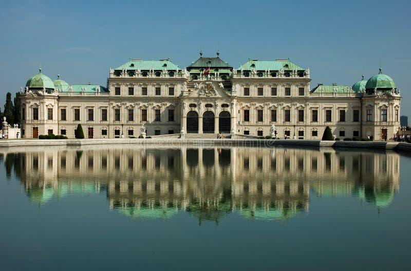 παλάτι Βιέννη πανοραμικών πυργίσκων στοκ φωτογραφία με δικαίωμα ελεύθερης χρήσης