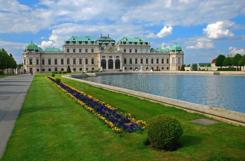παλάτι Βιέννη πανοραμικών π&upsilon στοκ φωτογραφία με δικαίωμα ελεύθερης χρήσης