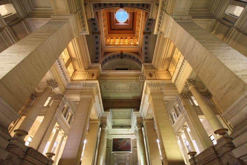 παλάτι δικαιοσύνης των Βρ&u στοκ εικόνες με δικαίωμα ελεύθερης χρήσης