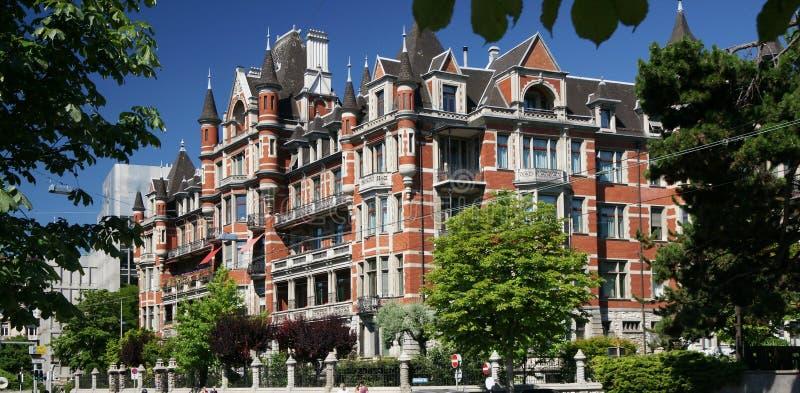 παλάτι κόκκινη Ζυρίχη στοκ φωτογραφία με δικαίωμα ελεύθερης χρήσης